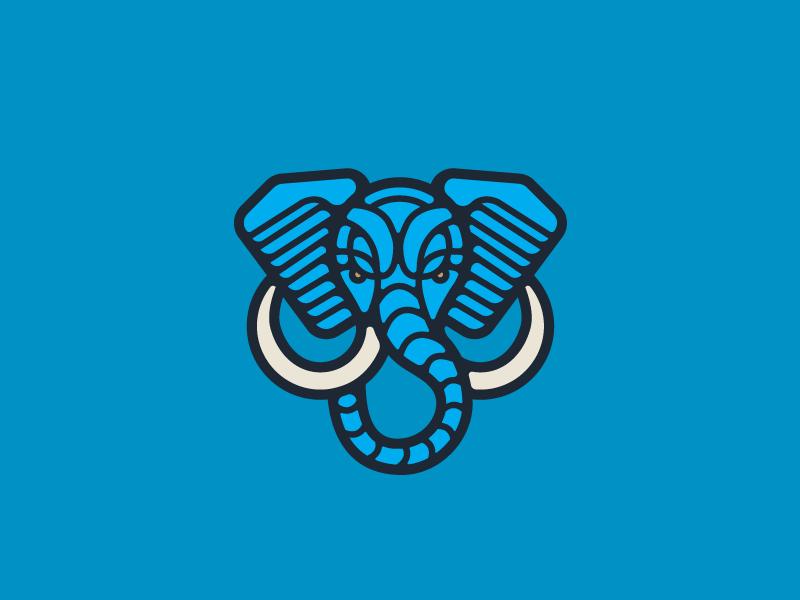 Elephant mark mark logo illustration elephant