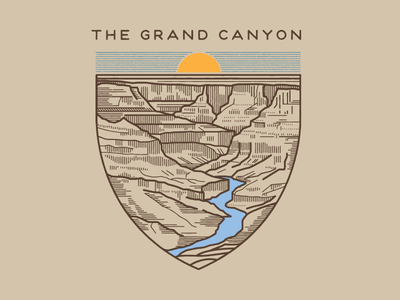 Sevenly The Grand Canyon national parks grand canyon illustration sevenly