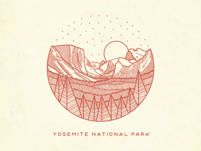 Yosemite Sevenly national parks illustration yosemite