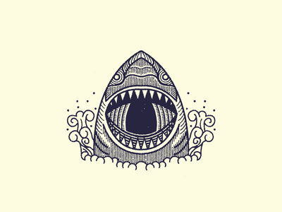 Shark Attack illustration shark