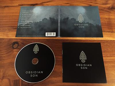 Obsidian Son cd layout illustration music cd logo
