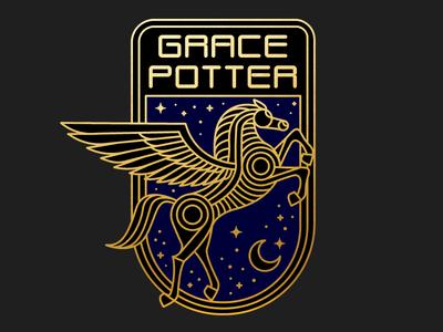 Grace Potter flying horse illustration horse pegasus