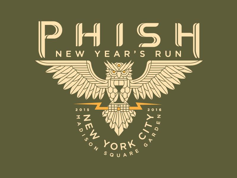 Phish New Year's NYC 2016 new years illustration phish owl