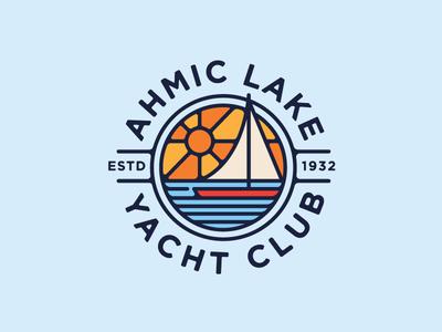 ALYC  illustration sailing lake boat