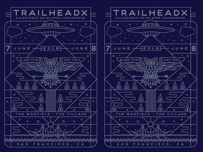 TrailHeaDX poster poster mountains waterfall ufo owl salesforce