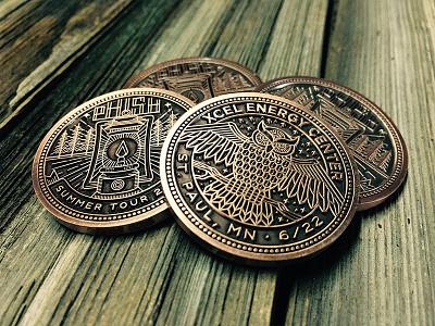 Phish Three-eyed Owl Coin coin woods lantern owl phish