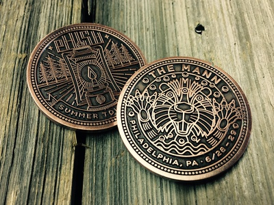 Phish Three-eyed Beaver Coin illustration coin phish beaver