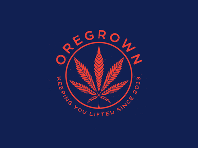 Oregrown Leaf  stay lifted illustration leaf marijuana