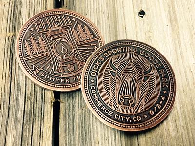 Phish Summer Tour Coins monoline illustration coin phish