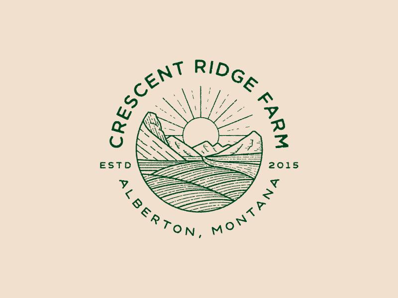 Crescent Ridge Farm montana farm mark illustration