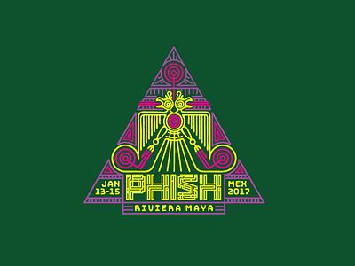 Phish Mexico  illustration mayan phish