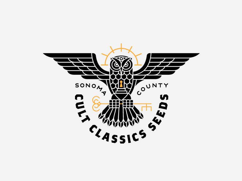 Cult Classics Seeds Owl logo mark cult owl cannabis