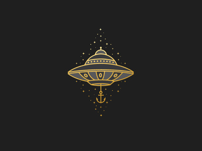 Anchored illustration anchor ufo