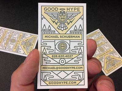 Good Hype Biz Card business card logo letterpress card business
