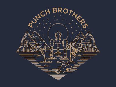 Punch Brothers instruments bluegrass desert