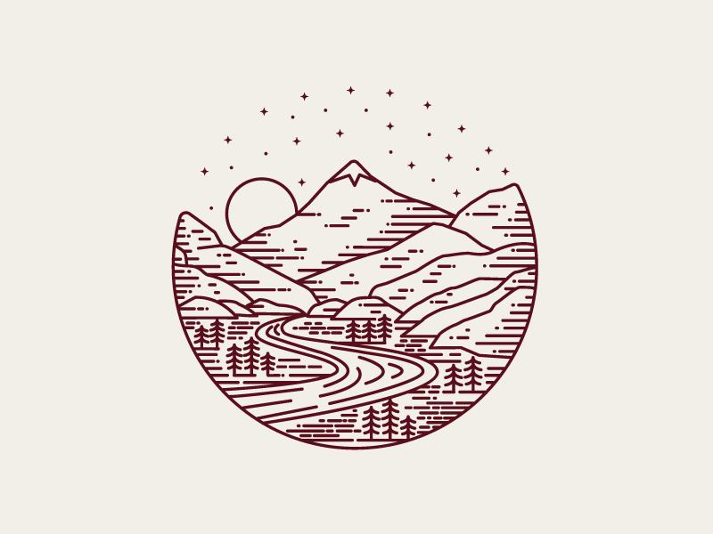 TrailheaDX Landscape mountains illustration landscape