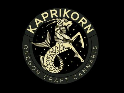 Kaprikorn logo mark oregon cannabis capricorn