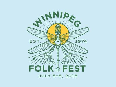 Winnipeg Folk Fest 2018 tubes folk festival banjo dragonfly