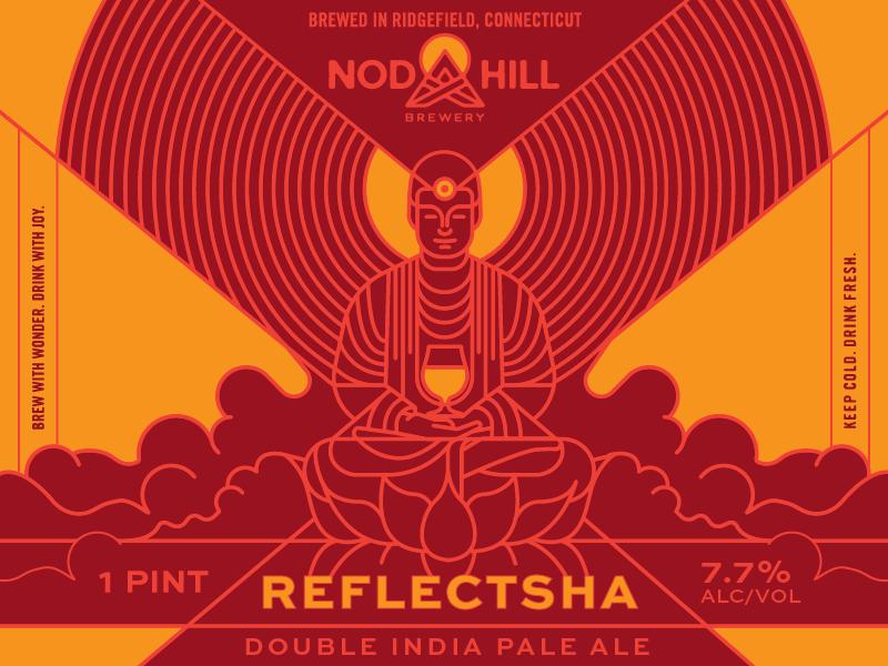 Nod Hill Reflectsha drink fresh illustration ipa can beer