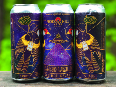Nod Hill Carduelis Cans galaxy bird ufo hop can beer