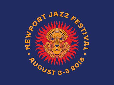 Newport Jazz Festival keyboard trumpet saxophone lion jazz newport