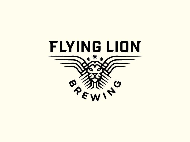 Flying Lion Brewing mark logo lion beer brewery