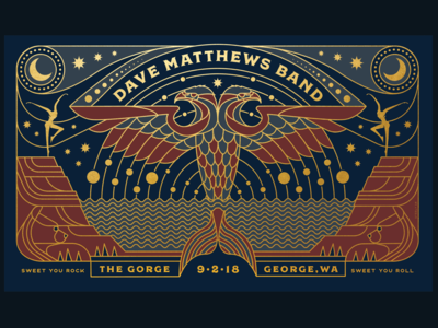 Dave Matthew Band Gorge poster