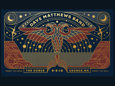 Dave Matthew Band Gorge poster