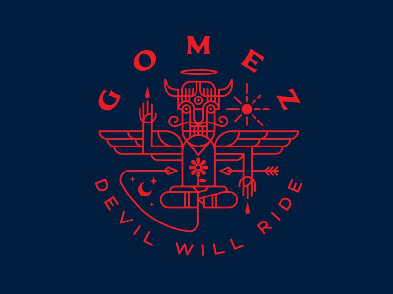 Gomez   Devil Will Ride   Dribbb 01 band gomez illustration devil