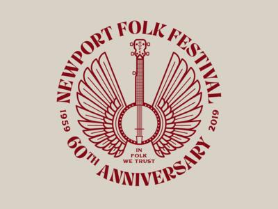 Newport Folk Festival Flying Banjo