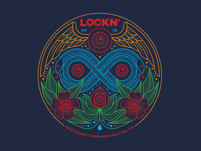 LOCKN' SNAKES eyeball flowers flying eyeballs snakes illustraion