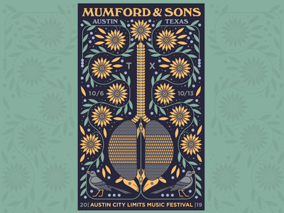 Mumford & Sons ACL Music Festival Poster