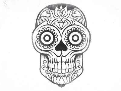 Day of the Dead skull day of dead illustration texture day of the dead