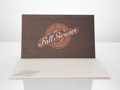 Full-Service card hand-drawn custom-type type typography thanksgiving card envelope