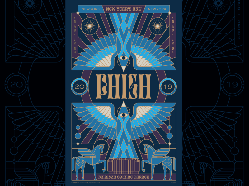PHISH MSG New Years Print phoenix birds print poster phish