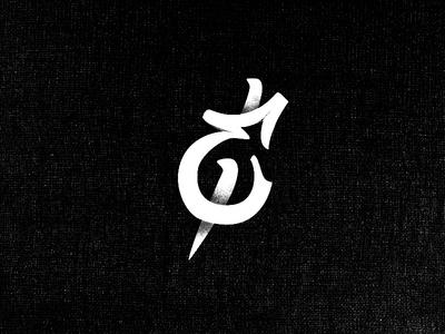 Ampersand hand-drawn custom-type ampersand texture