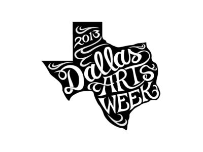 Dallas Arts Week  custom type hand drawn dallas logo mark hand-drawn typography custom-type texas