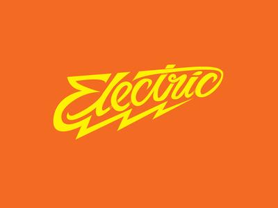 Electric Vector hand drawn custom type electric hand-drawn lightning custom-type lettering typography type vector illustrator elctric