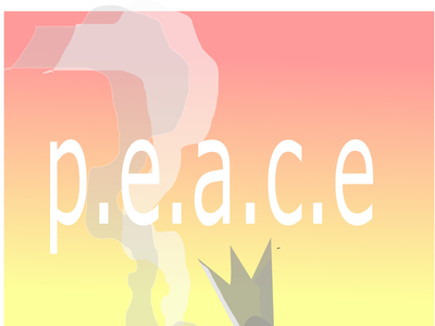 peace in  bomb bomb war fire black lineart minimal illustration graphic design flat art design