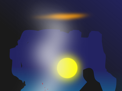 Trapped in the cave illustration lineart silhoutte smoke dark moon fire black people black cave