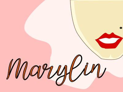 Marylin vintage oldies icon marylin monroe pink minimal lineart graphic design flat art illustration design