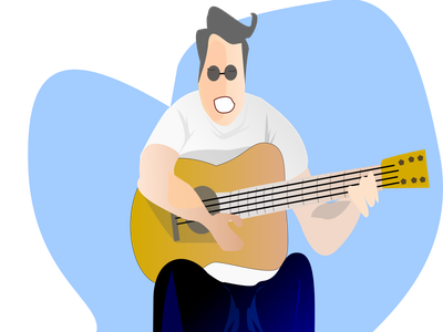 just wanna play my guitar illustrator lineart acoustic guitar music player fun music pandemi happy musician
