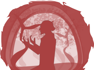 the energy gods thankful spectrum universe postive energy illustration artline design silhoutte focus pray dark red people
