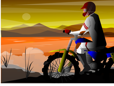 Riding  adventure extreme trail landscape mountain smoke fog adventure biker riding motorcycle