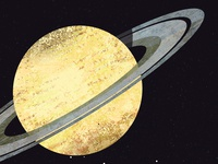 saturn astronomy solar system space planets science illustration texture