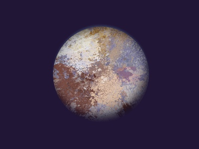 Pluto space planets solar system astronomy science illustration texture