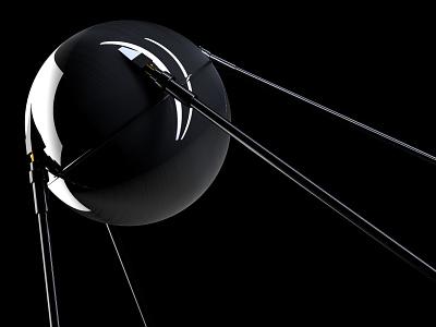 sputnik russia satellite space cinema4d illustration 3d