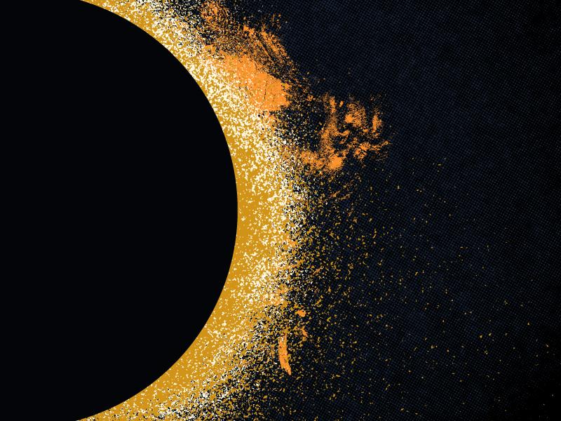 eclipse part ii astronomy lunar solar dark gritty texture eclipse