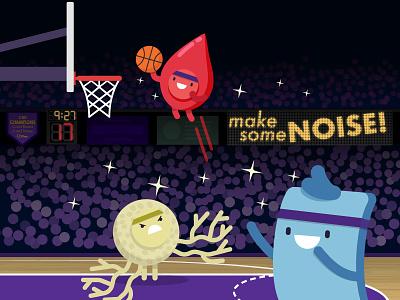 stem cells vs cancer stem basketball illustration science