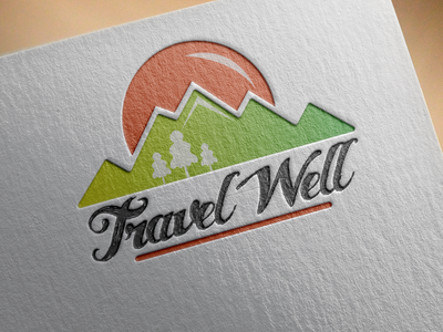 Logo Design for Travel Well company logo design branding logo adobe illustrator flat vector illustrator illustration graphic design design